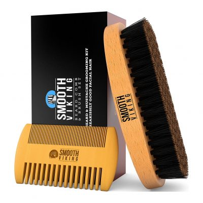 Beard and Mustache Brush and Comb Kit from Smooth Viking