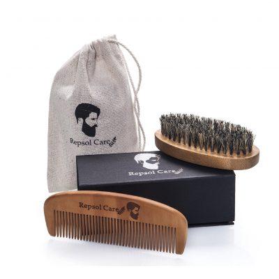 Beard Brush and Beard Comb Kit from Rapid Beard
