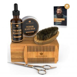 3. Naturenics Premium Beard Grooming Kit with an eBook