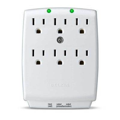 Belkin 6-Outlet SurgeMaster Wall-Mount Surge Protector