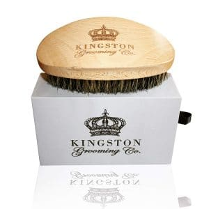 8. Kingston Grooming Bristle Brush with Travel Case - Professional Quality