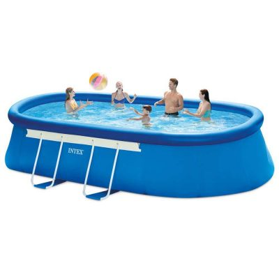 Oval 18ft by 10ft by 42inches Frame Pool Set from Intex
