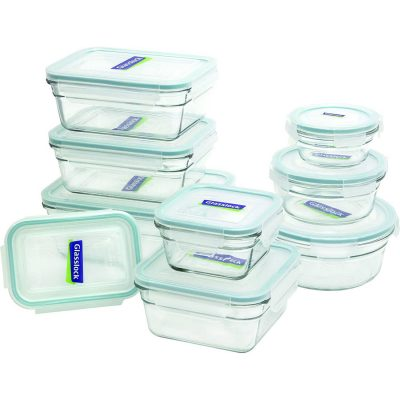 Glasslock 18-Piece Assorted Oven Safe Food Containers