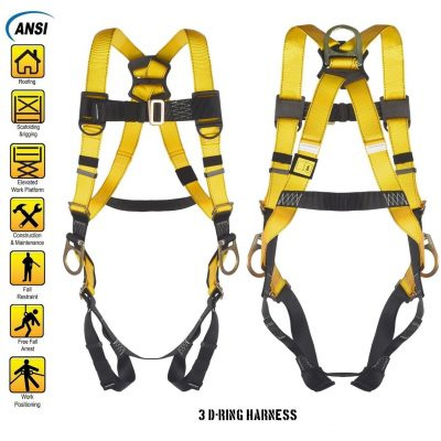 WELKFORDER 3D-Ring Fall Protection Safety Harness