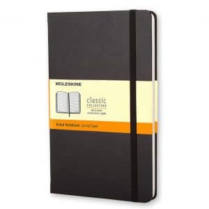 Moleskine Hard Cover Classic Notebook, Black, 240 Pages