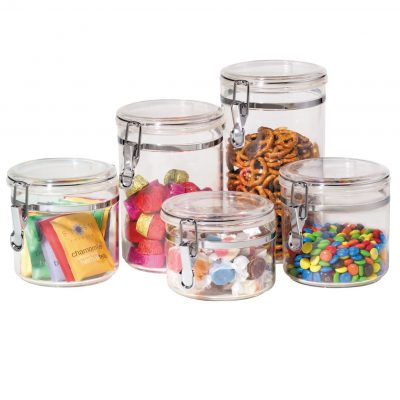 Oggi 9322 5-Pieces Acrylic Canisters Set