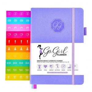 GoGirl Organizer and Planner Compact Size Goals Journal for Women