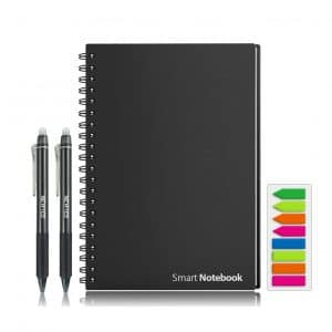 HOMESTEC Reusable Erasable Smart Notebook with Sketch Pads APP Storage