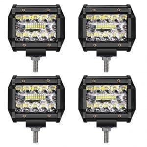 TURBO SII LED Light Bar TURBO SII LED Off-Road Driving Lights 60W LED Fog Lights Led, 4 Pack
