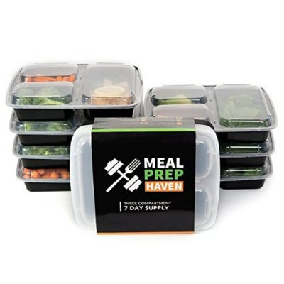 Meal Prep Havens 3 Compartment Containers