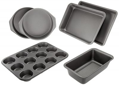 AmazonBasics Six Piece Bakeware Set