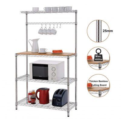 Finnhomy 4-Tiers Microwave Cart