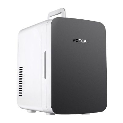 Potek Mini Fridge DC/AC Portable Thermoelectric Cooler and Warmer System (6 Can/6 Liter)