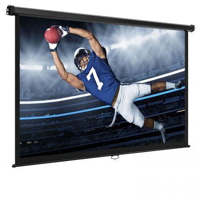 120-inch Pull Down Projector Screen Manual Auto Lock Home Theater Olympics New