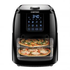 Chefman 6.3 Quart Digital Convection Oven Dehydrator Air Fryer BPA-Free XL Family Size, Black