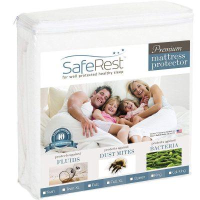 Cal King Size Hypoallergenic Waterproof SafeRest Premium Mattress Cover protectors - Vinyl Free