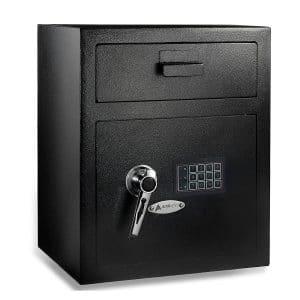 10. AdirOffice Digital Combination Safe - Front Loading (Black)