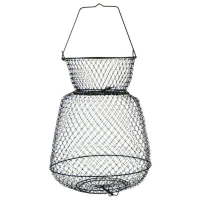 Eagle Claw Wire Fish Basket, Black