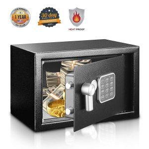 3. SereneLife Safe & Lock Box, Includes Keys