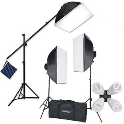 StudioFX 2400 Watt Photography Softbox Lighting Kit, H9004SB2
