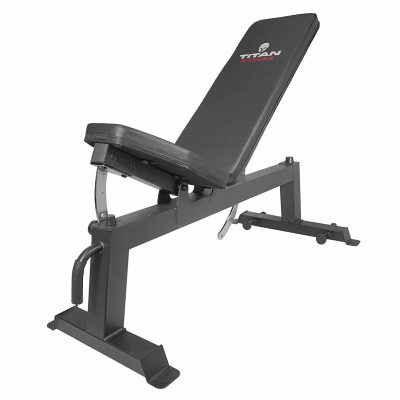 Titan Fitness Adjustable Flat Incline Workout bench