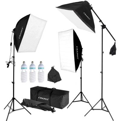 CRAPHY Professional Photo Studio Softbox Lighting Kit