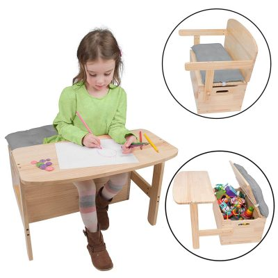 Svan Wooden Chair and Desk Set