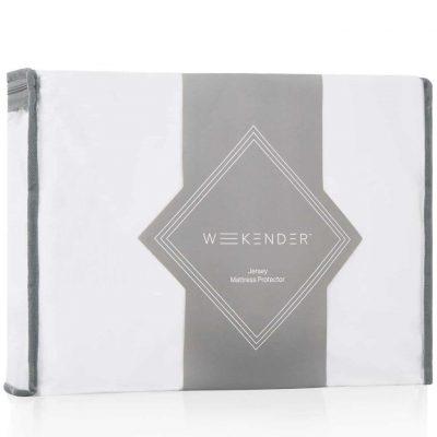 WEEKENDER Fitted Jersey Waterproof Barrier Mattress Protector- Queen
