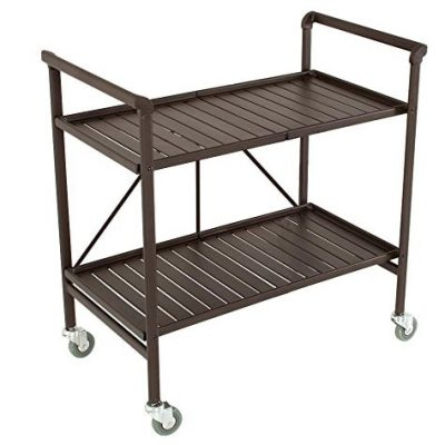 Cosco Folding Serving Cart, Brown