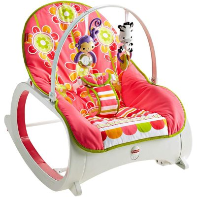 Fisher-Price Infant-to-Toddler Rocker, floral confetti