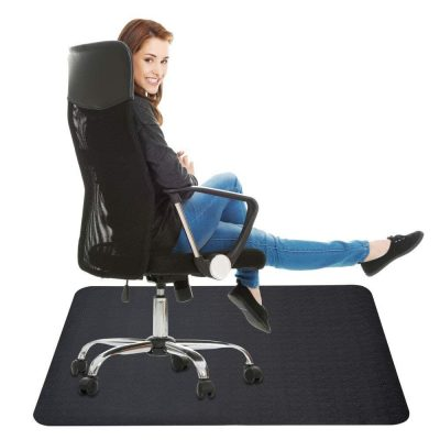 Lesonic Black Chair Mat for Hard Floor