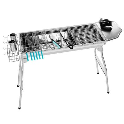 Miady Stainless Steel Foldable BBQ Charcoal Grill
