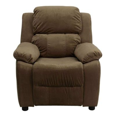 Unique Heavily Padded Contemporary Microfiber Kids Recliner Chair