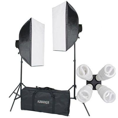 StudioFX 1600Watt Digital Photography Softbox Lighting Kit, H9004S