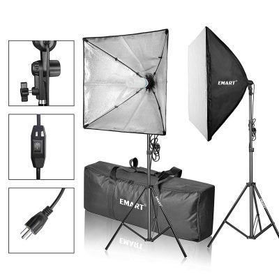 EMART Softbox Photography Video Studio Lighting Kit