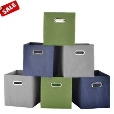 SHACO Double Metal Handle Durable Storage Cubes