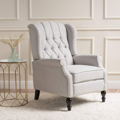 Elizabeth Light Tufted Arm Chair Recliner