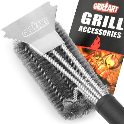 GRILLART 18-Inch Stainless Steel Grill Brush