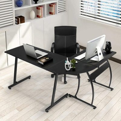 GreenForest L-shaped Computer Corner Office Desk