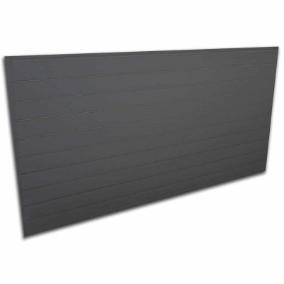 Proslat Heavy Duty PVC Slatwall Panel, 88105, Charcoal