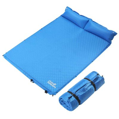 Lightweight Compact Foam Sleeping Mat for Camping Hiking Picnic Outdoor Ubon Double Self Inflating Camping Sleeping Pad with 2 Pillows