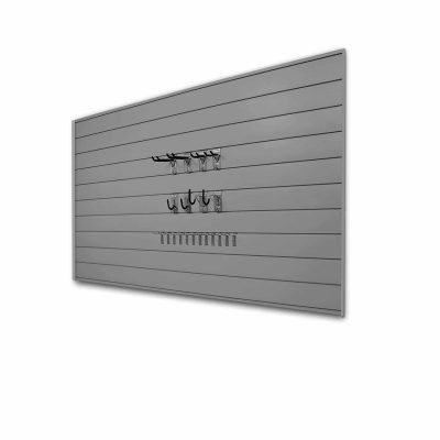 Proslat Basic Bundle Slatwall Panel with Hook kit, 33013, Light Grey