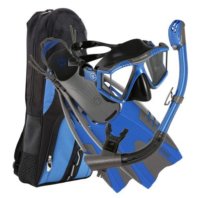 U.S. Divers Panoramic Platinum Snorkeling Gear Set