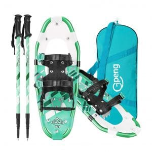 Gpeng Lightweight Snowshoes with Trekking Poles