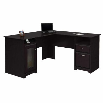 Bush Furniture Cabot L-Shaped Computer Corner Desk