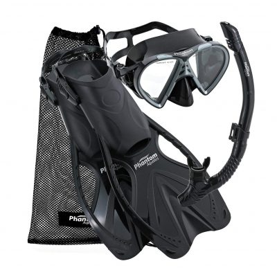 Phantom Aquatics Adult Sport Mask Fin Snorkel Gear Set