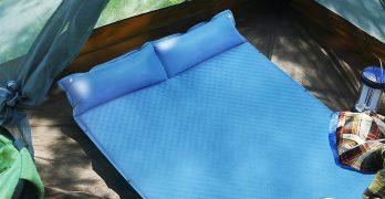 double self inflating sleeping pad