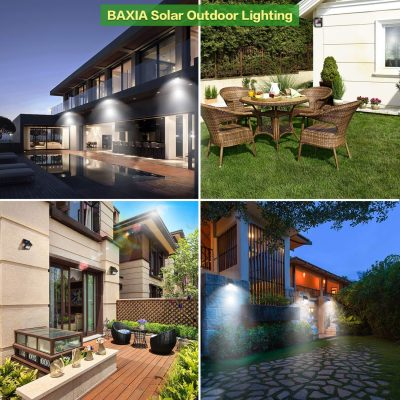 BAXIA Solar Lights Outdoor