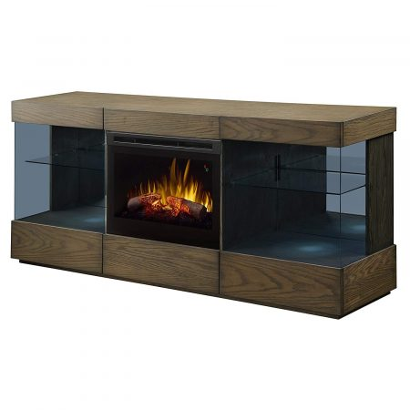Dimplex Electric Fireplace TV Stand Electric Logs