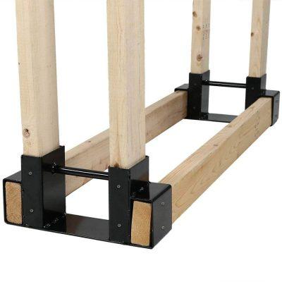 Sunnydaze Steel Firewood Log Rack